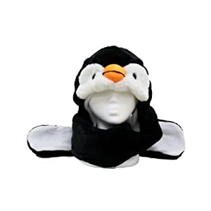 Plush Penguin Hat With Long Paws
