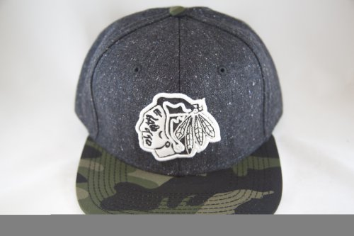 Limited Edition NHL Chicago Blackhawks Logo Snapback Hat with Camo Visor by American Needle at Amazon.com