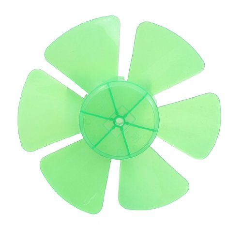 Restaurant Kitchen Ventilator Motor 8mm Dia Shaft Hole Fan Blade Green