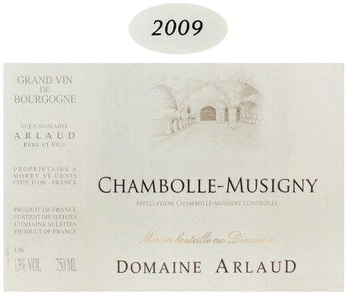 2009 Domaine Arlaud Chambolle-Musigny Burgundy Pinot Noir 750 Ml