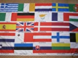 European Union 25 Country 5'x3' Flag For Eurovision Song Contest - POSTED FIRST CLASS