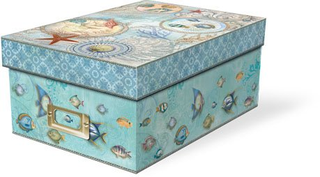 Punch Studio Seascape Decorative Photo Storage Box