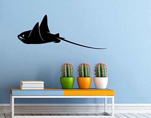 Stingray Fish Wall Decal Vinyl Sticker Sea Ocean Wall Graphics Home Interior Wall Mural Decor (5s01g)