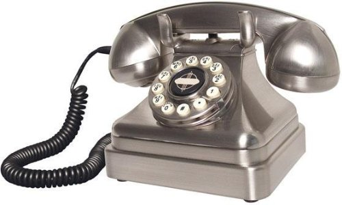 Crosley CR62-BC Kettle Classic Desk Phone with Push Button Technology (Brushed Chrome)