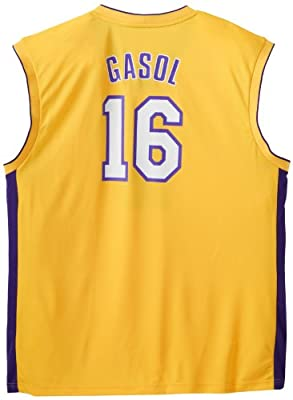 NBA Los Angeles Lakers Pau Gasol Gold Replica Jersey, Medium