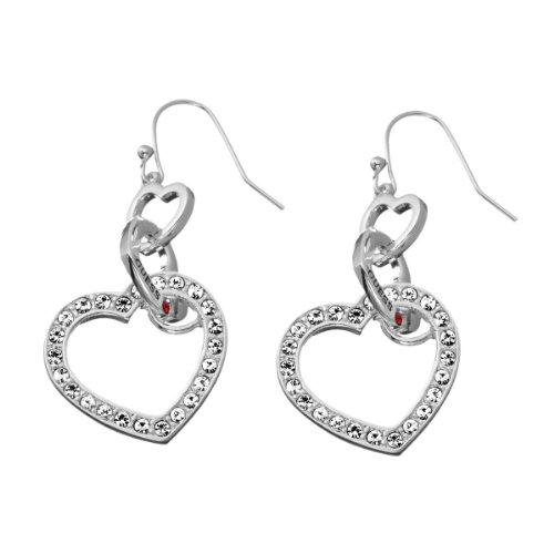 Guess Damen-Ohrhänger Metall mit Herz UBE81011 thumbnail