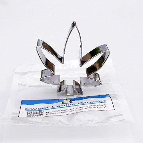 Sweet Cookie Crumbs Marijuana Leaf Cookie Cutter Stainless Steel