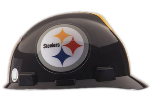 V-Gard Type I Hard Cap With 1-Touch Suspension, Pittsburgh Steelers Logo And Adjustable Strap at Amazon.com