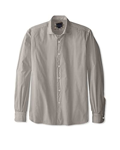 Orian Men's Slim Fit Solid Pinpoint Sportshirt