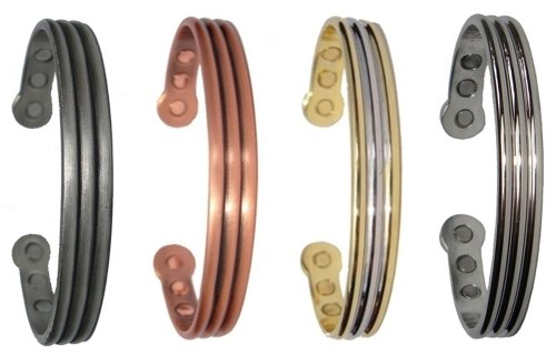 Magnetic Bracelets - Bangles - Mens / Womens - Copper, Steel, Gold/Silver or Polished Silver colour
