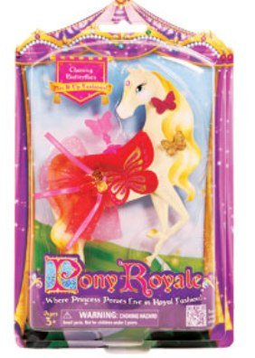Pony Royale Chasing Butterflies Mix-It-Up Fashions - Red and Pink