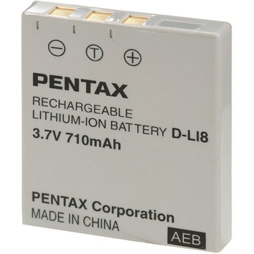 Pentax DL-I8 Battery for Optio S, S6, S4i, S5i, S5z, WPi & WP Digital Cameras - Retail Packaging