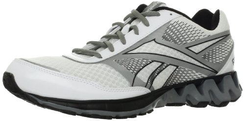 Reebok Men's Zigkick Ride Running Shoe,White/Black/Pure Silver/Flat Grey,9.5 M US