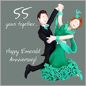 55th Wedding Anniversary Card Amazoncouk Kitchen Amp Home