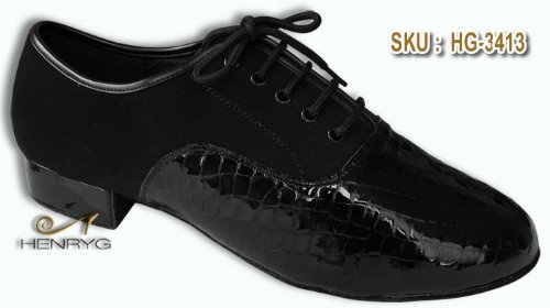 HenryG Mens dance shoes, Men's Ballroom dance shoes in patent leather HGB-3413