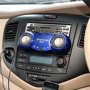 iPhone/スマートフォン対応Bluetooth車載スピーカー&ハンズフリー通話対応「400-SP017」