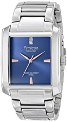 Armitron Men's 20/4953BLSV Diamond Accented Blue Dial Silver-Tone Bracelet Watch