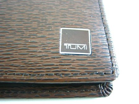 Tumi Tumi Monaco Brown Double Billfold Wallet