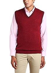 Proline Men's Acrylic Sweater (8907007142394_PC09016_X Large_Maroon Marl)