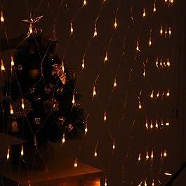 Ch&Ch Decorazione Festival 120-LED 8-Mode Giallo Lampade luce netta per Fence Garden Party (220V)