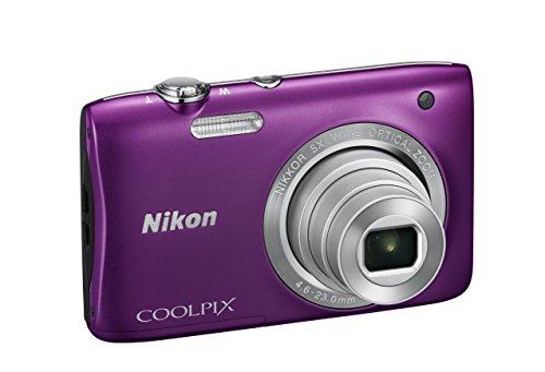 """Nikon Coolpix S2900 Fotocamera Digitale Compatta, 20,1 Megapixel, Zoom 5X, 3200 ISO, LCD 2,7"""", HD, colore: viola [Nital card: 4 anni di garanzia]"""