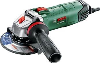 Bosch Meuleuse angulaire compacte PWS 850-125 de 1,8 kg, à diamètre de 125 mm avec capot de protection et poignée anti-vibration 06033A2700