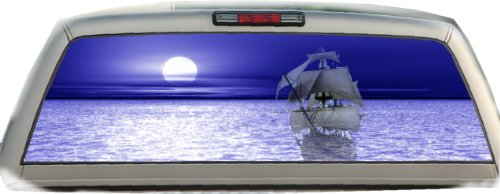 Ghost Ship- Blue- 22 Inches-by-65 Inches- Rear Window Graphics (Buccaneers Window Graphics compare prices)