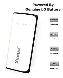 XYNUS RM-5200 mAh Power Bank With Genuine LG Battery (White-Black)