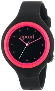 Rip Curl Aurora PU Watch in Black/Pink sz:One Size
