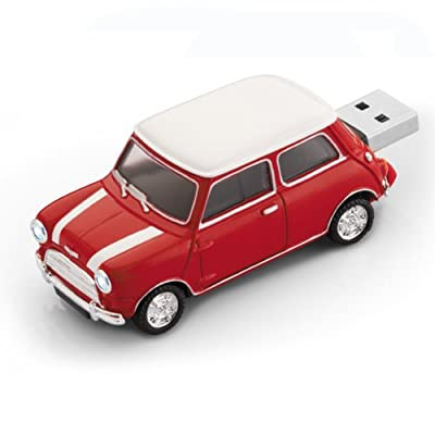Mini Cooper Car USB Flash Memory Drive 4Gb - Red by JellyFlash