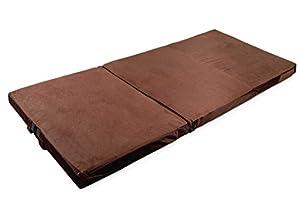 Tri fold handy multi purpose mat picnic sofa for Sofa bed zippered mattress cover