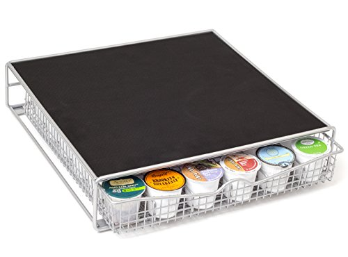 OxGord Coffee Storage Organizer for 36 K-Cups with a Rack Mat