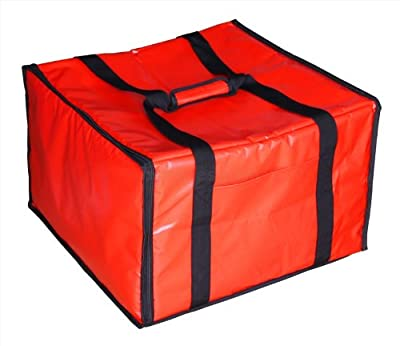 New Star Foodservice | Insulated Pizza Delivery Bag, Large, Red & Black Color