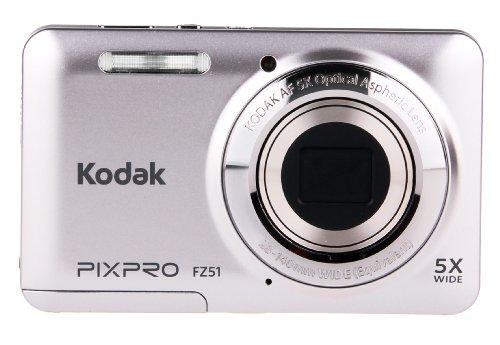 Kodak Friendly Zoom FZ51-SL   Digital Camera with 5x Optical Image Stabilized Zoom  with 2.7-Inch LCD (Silver)