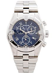 Stainless Steel Case and Bracelet Blue Dial Date Display Chronograph