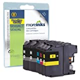 5 Moreinks Compatible Printer Ink Cartridges to Replace Brother LC127XLBK / LC125XLC / LC125XLM / LC125XLY for DCP-J4110DW MFC-J4410DW MFC-J4510DW MFC-J4610DW MFC-J4710DW - High Capacity (Black, Cyan, Magenta, Yellow)