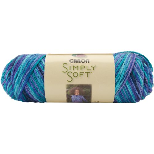 Caron Simply Soft Paints Yarn, 4 Ounces/208 Yards, Oceana