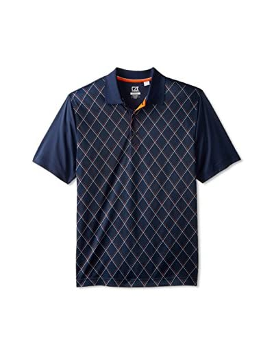 Cutter & Buck Men's Drytec Academy Print Short Sleeve Polo