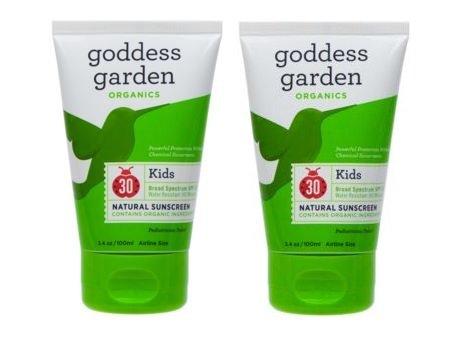 Goddess garden baby natural sunscreen spf 30 3 4 oz pack for Gardening naturally coupon