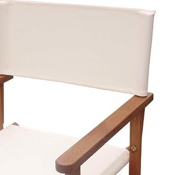Sedia per tavolo da giardino in legno maranti tessuto ecru 39 set 2 pezzi le offerte speciali - Tavolo giardino legno offerte ...