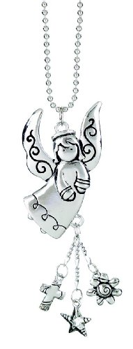 ANGEL Silver Car Charm Ornmament with Dangles