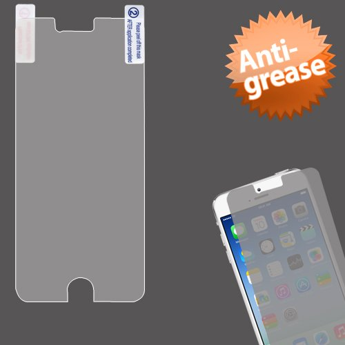 Cell Accessories For Less (Tm) Apple Iphone 6 Anti-Grease Lcd Screen Protector/Clear + Bundle (Stylus & Micro Cleaning Cloth) - By Thetargetbuys