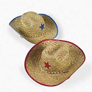 Click to buy Kids Straw Cowboy Sheriff Hat w/Star (2 Pack)from Amazon!