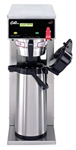 "Wilbur Curtis D500GT63A000 Standard Airpot Coffee Brewer, Dual Voltage, Single, 74-Ounce Capacity, 24.5"" Height x 9.25"" Width from Wilbur Curtis Co. Inc."
