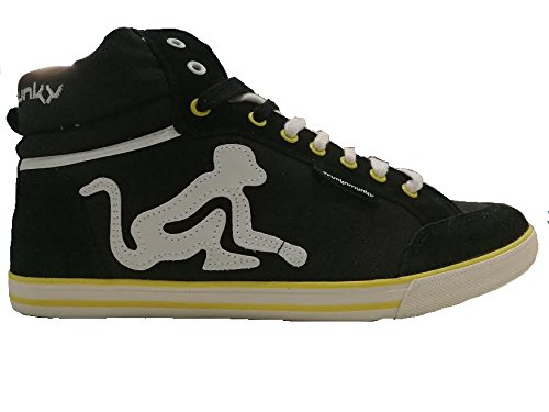DRUNKYMUNKY SNEAKER UOMO BOSTON CLASSIC 004 black/yellow n° 42