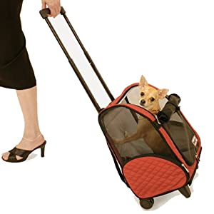Snoozer Roll Around 4-in-1 Pet Carrier, Red & Black, Large