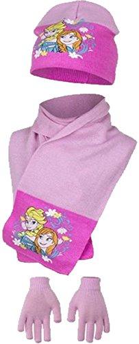 Concesso in licenza ufficiale Disney congelata Anna Elsa inverno cappello sciarpa guanti Set