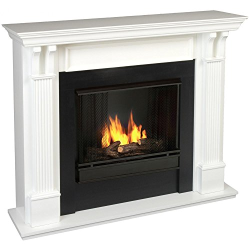 Calie Gel Fireplace in White