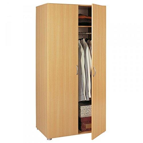 Kleiderschrank-beige-2-Tren-buche-Schrank-Drehtrenschrank-Wscheschrank-Kinderzimmer-Jugendzimmer-Kinderzimmerschrank