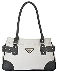 Fostelo Women's Austin Shoulder Bag (White) (FSB-634)